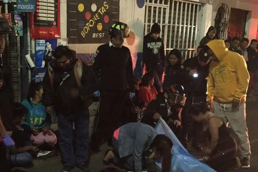 El ataque se produjo a las 3 horas de este domingo.(Foto Prensa Libre: Noti San José Villa Nueva)