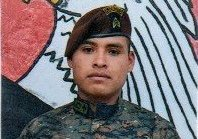 Sargento Diego Brito Escobedo, víctima de incendio forestal en Huehuetenango. (Foto Prensa Libre: Cortesía Ejército de Guatemala)