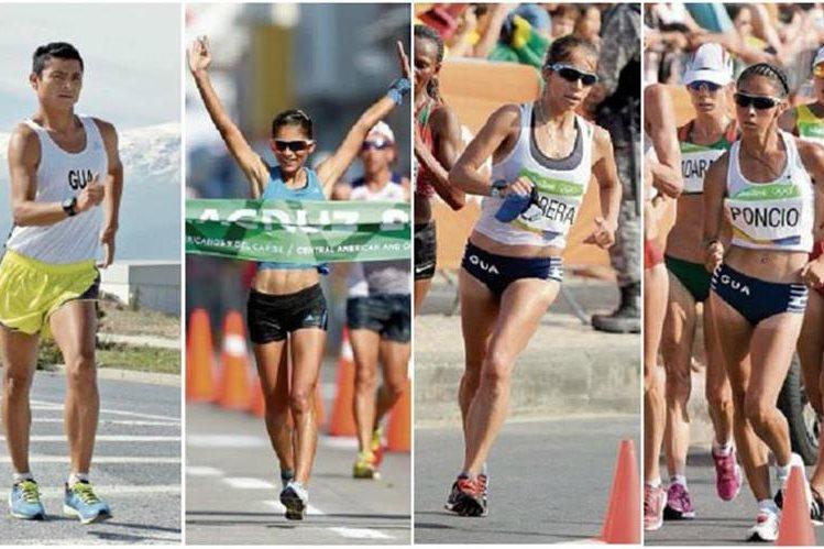 Érick Barrondo es el único clasificado a Londres, mientras que Mirna Ortiz, Mayra Herrera y Maritza Poncio están cerca. (Foto Prensa Libre).