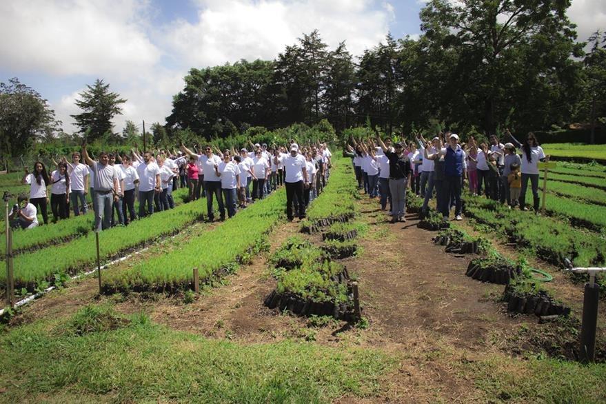 La primera actividad se realizó en un espacio de San José Pinula. (Foto Prensa Libre: Gildaneliz Barrientos).