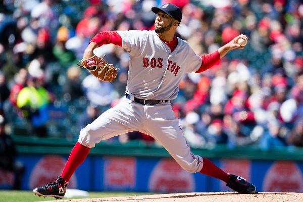 El lanzador David Price de Boston ganó su primer juego con las Medias Rojas. (Foto Prensa Libre: AFP)