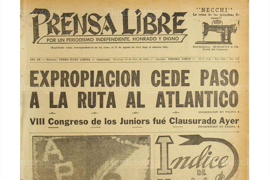 Comienza expropiación de terrenos  para dar paso a la construcción de la carretera al Atlántico, el 29/11/1953. (Foto: Hemeroteca PL)