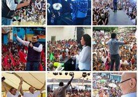Los partidos realizaron su cierre de campaña desde el pasado domingo hasta hoy al medio día. (Foto Prensa Libre)