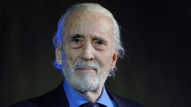 Sir Christopher Lee. (Getty Images)