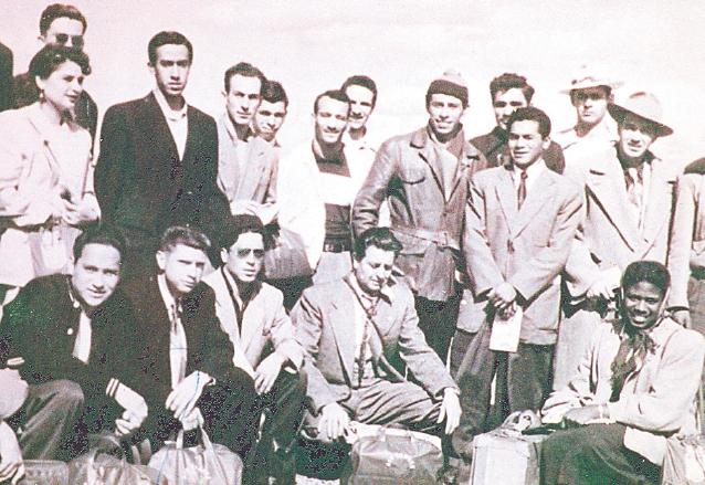 La primera delegación olímpica de Guatemala que participó en unos Juegos Olímpicos en Helsinki 1952. (Foto: Hemeroteca PL)