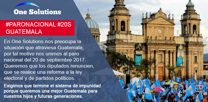 La empresa de tecnología One Solutions se une a manifestaciones. (Foto Prensa Libre: Cortesía)