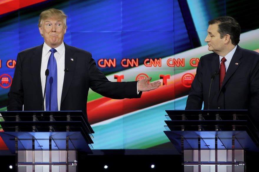 Los candidatos republicanos Donald Trump y Ted Cruz. (Foto: Prensa Libre/AP).