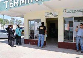 La sucursal de la Empresa Electrica Municipal se encuentra en la nueva terminal de Jalapa.(Foto Prensa Libre: Hugo Oliva)