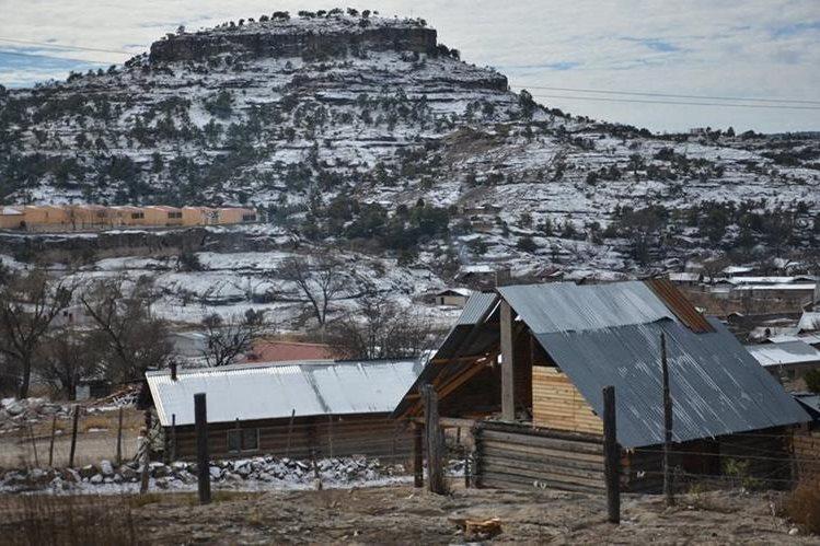 Vista general de las afectaciones por el mal clima en la comunidad de Guachochi, en el estado de Chihuahua (México). (Foto Prensa Libre: EFE).