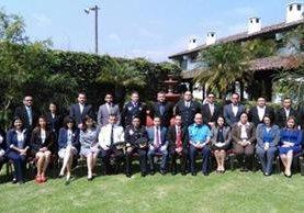 Jefes de las policías de la región se reúnen en Antigua Guatemala. (Foto Prensa Libre: Mingob)