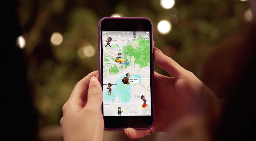 Así es el Snap Map, que tratará de aprovechar los geofiltros para una nueva forma de mostrar las historias (Foto Prensa Libre: Snapchat).