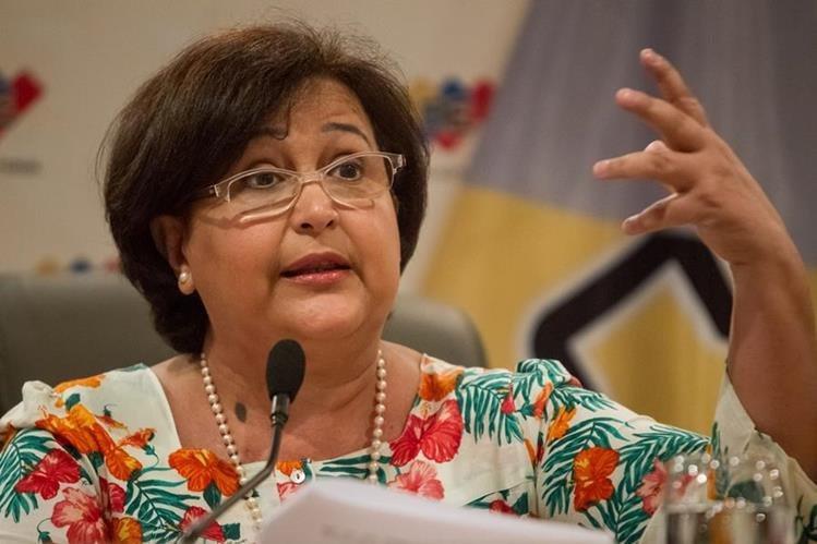Tibisay Lucena,presidenta del Consejo Nacional Electoral de Venezuela.