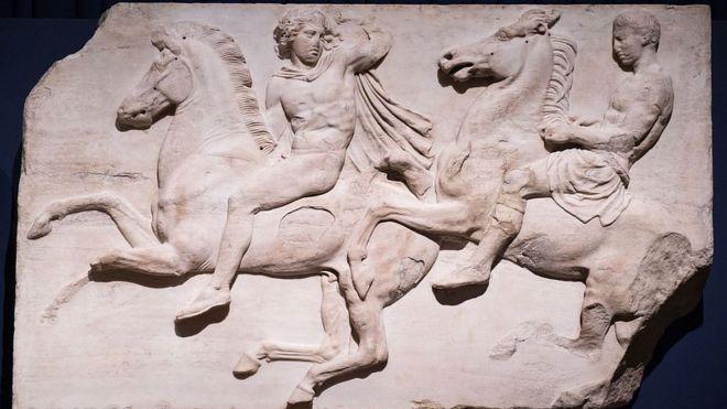 El Museo Británico tiene una enorme colección de frisos del Partenón de Atenas. GETTY IMAGES