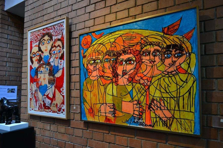 Las obras que presentarán en Italia ya se exhibieron en el Instituto de Cultura Italiana.  (Foto Prensa Libre: Ángel Elias)