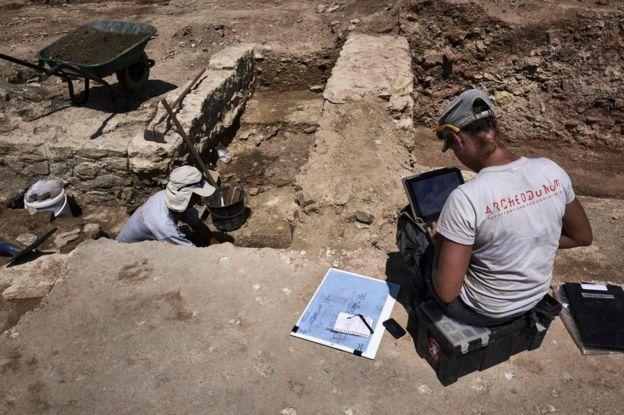La ruinas cubren una extensión de 7.000 metros cuadrados. AFP