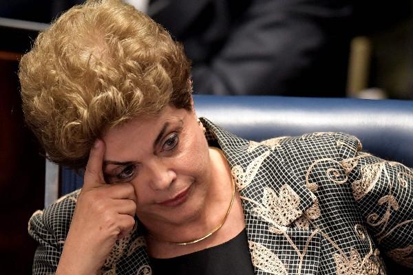 Dilma Rousseff, presidenta suspendida de Brasil enfretará el veredicto del Senado.(AFP).