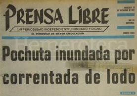 Titular de Prensa Libre del 25 de septiembre de 1991. (Foto: Hemeroteca PL)