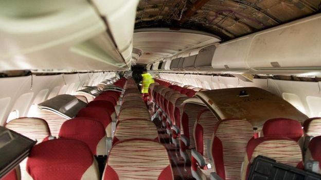 Hay un mercado floreciente para asientos de avión de segunda mano, como estos. RICHARD GRAY