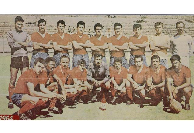 Poster de 1964 aparece el escuadrón rojo en el estadio de El Trébol. (Foto: Hemeroteca PL)