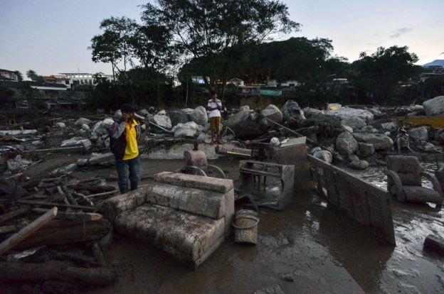 La magnitud de la catástrofe se agrava por el aislamiento de esta zona de Colombia, situada en la región amazónica, en la frontera con Ecuador. AFP