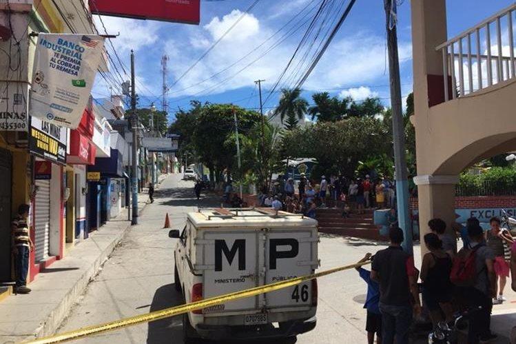 Un ataque armado dejó un muerto y dos heridos en Concepción Las Minas, Chiquimula. (Foto Prensa Libre: Mario Morales)