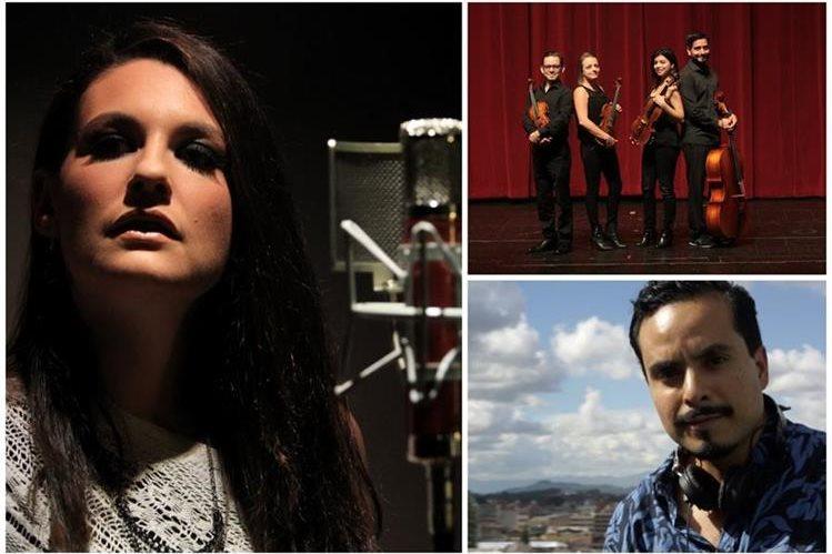 En el video grabado por Prensa Libre participan la estadounidense Cydney Lapreta, y los guatemaltecos del Cuarteto Asturias y el DJ Masaya. (Foto Prensa Libre: Érick Ávila y Estuardo Paredes)