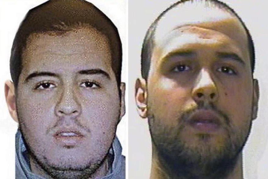 Jalid El Bakrau (d) y Brahim El Bakraui (i). Los presuntos autores de los atentados registrados en Bruselas. (Foto Prensa Libre: EFE).