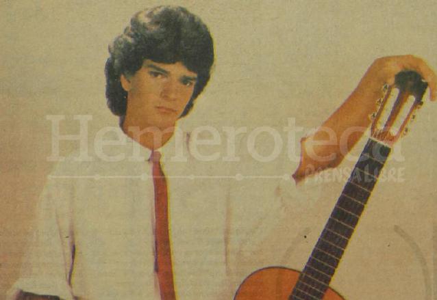 Ricardo Arjona en sus inicios como estrella internacional. Foto publicada en 1986. (Foto: Hemeroteca PL)