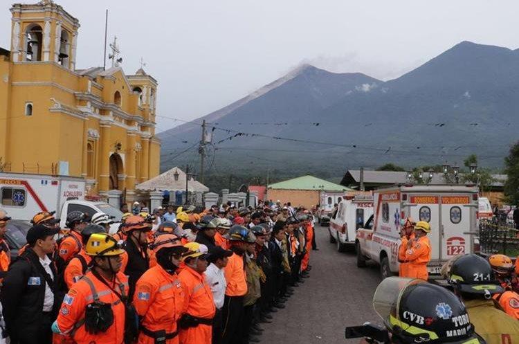 En San Juan Alontenango permanecen muchos albergados. (Foto Prensa Libre: Víctor Chamalé)