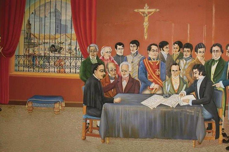 Pintura alegórica a la firma de la independencia. (Foto: Hemeroteca PL)