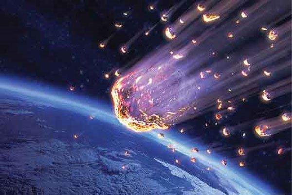 Ilustración. Científicos hallan fragmentos de meteorito que hace unos 66 millones de años provocó extinción de los dinosaurios. (Foto: Internet).