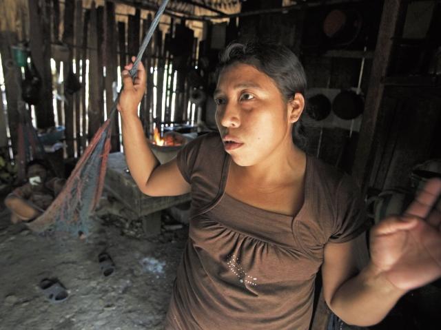 Demesia Ramírez es madre de dos hijos, y quedó viuda en el 2014, cuando soldados de Belice atacaron a su esposo.