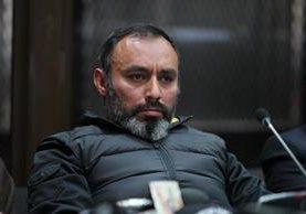 Byron Lima, condenado por la muerte de monseñor Gerardi, en tribunales. (Foto Prensa Libre: Hemeroteca PL)