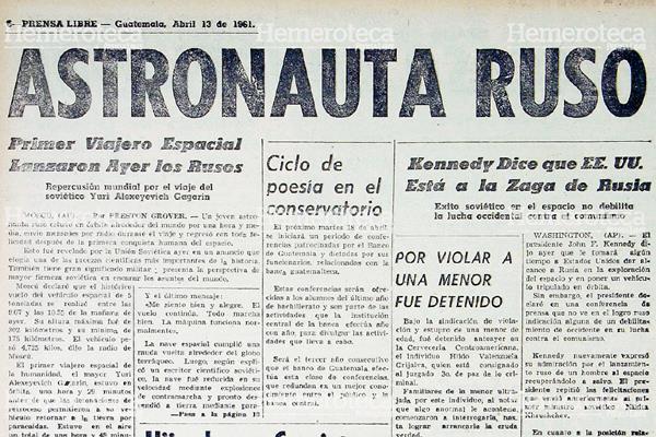 Nota del 13 de abril de 1961 donde se anunciaba la proeza. Foto: Hemeroteca PL