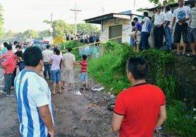 Gérber Emerson López Sosa, de 36 años, fue ultimado a balazos este domingo en la aldea Sibana, El Asintal, Retalhuleu. (Foto Prensa Libre: Jorge Tizol)