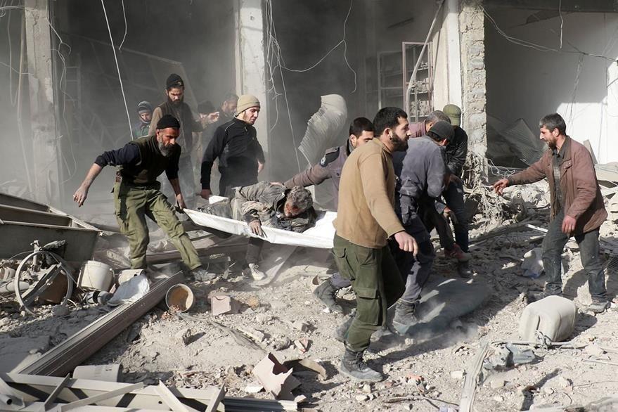 Un bombardeo cerca de Damasco, capital de Siria, dejó varios heridos en las últimas horas. (AFP)
