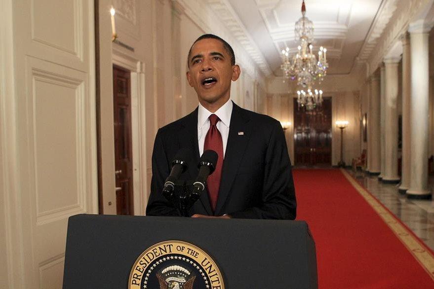 El presidente de los Estados Unidos, Barack Obama anuncia el 1 de mayo de 2011 que el Ejército norteamericano tenía en su poder el cuerpo de Osama Bin Laden. (Foto: The New York Times)