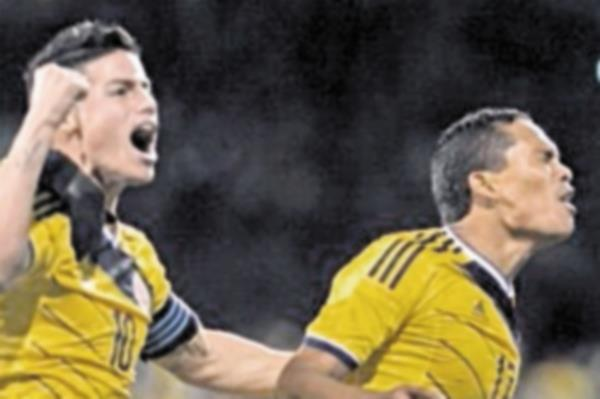 Teofilo Gutierrez y James Rodriguez fueron clave para el crecimiento de la selección de Colombia en los últimos partidos. (Foto Prensa Libre: Hemeroteca PL)