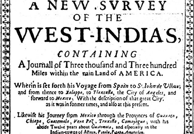 Facsimil de la primera edición de Los Viajes de Thomas Gage, 1648. (Foto: Hemeroteca PL)