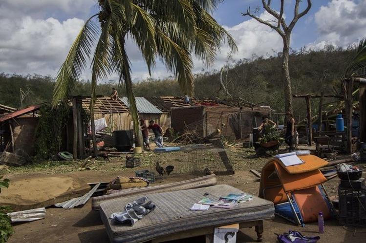 Daños causados por el huracán Patricia a su paso por México en octubre del 2015. (Foto Prensa Libre: Hemeroteca PL).