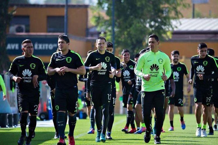El América entrenó ayer previo al partido de la gran final del torneo mexicano contra los Tigres de Monterrey. (Foto Prensa Libre: Club América)
