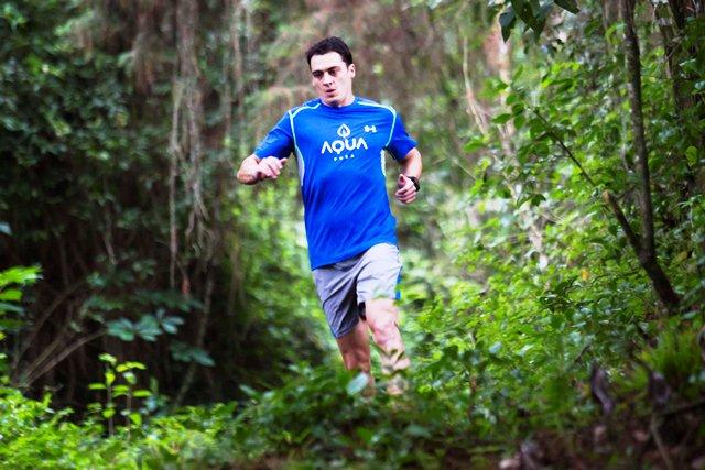 Charlie Sarmiento tiene un reto por cumplir, terminar entre los 15 mejores del ultramaratón de 50 millas. (Foto Prensa Libre: Norvi Mendoza)