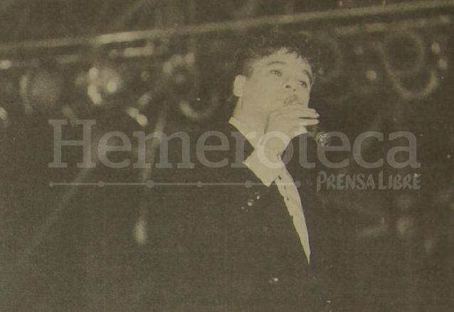 Juan Gabriel cautivó a los guatemaltecos en diciembre de 1992. (Foto: Hemeroteca PL)