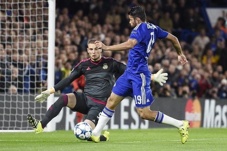 Diego Costa fue letal en el partido contra el Maccabi Tel Aviv en la Champions League. (Foto Prensa Libre: EFE)