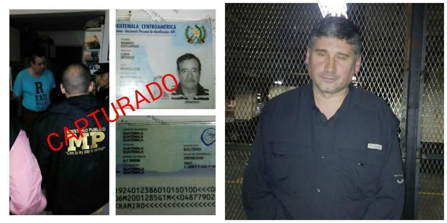 Los dos detenidos fueron llevados a la torre de Tribunales. (Foto Prensa Libre: PNC)