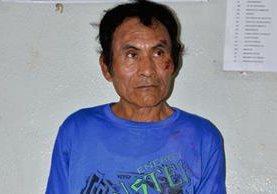 Marco Tulio  Hernández Sánchez fue capturado en San Antonio Suchitepéquez, Suchitepéquez, cuando abusaba de una niña de 4 años. (Foto Prensa Libre: Omar Méndez)