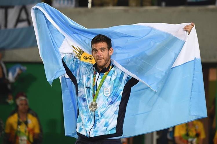 El argentino Juan Martín del Potro se convirtió en el nuevo héroe de su país después de su actuación en los Juegos Olímpicos de Río. (Foto Prensa Libre: AFP)