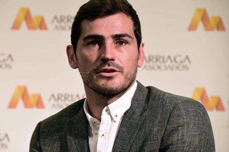 Iker Casillas participó este lunes en una conferencia de prensa en Madrid. (Foto Prensa Libre: AFP)