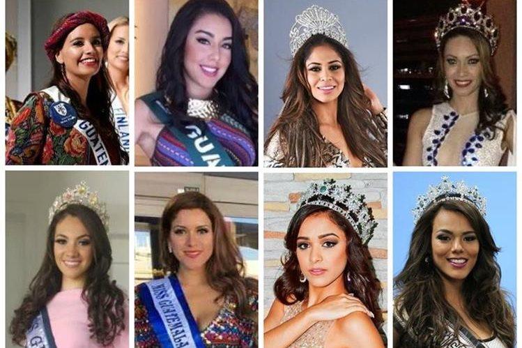 Ocho reinas de la belleza nacional compiten en certámenes fuera del país. (Foto Prensa Libre: Cortesía y Hemeroteca PL)