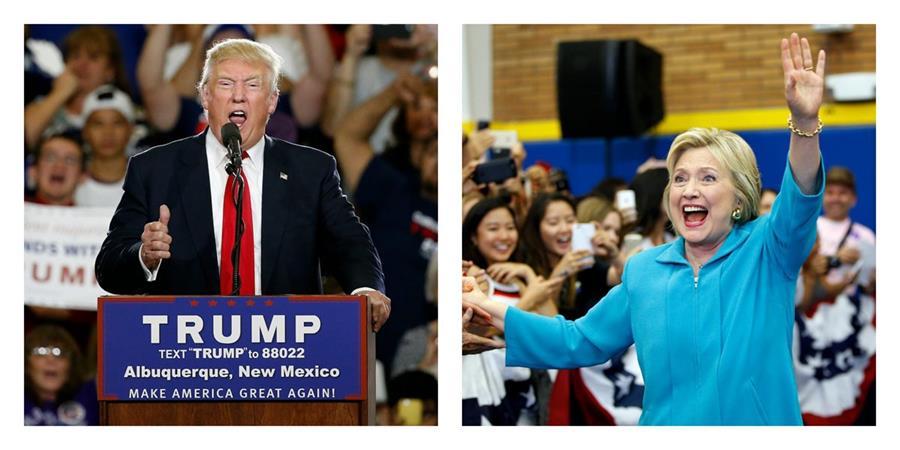 Los candidatos Donald Trump y Hillary Clinton . (Foto Prensa Libre: AP).
